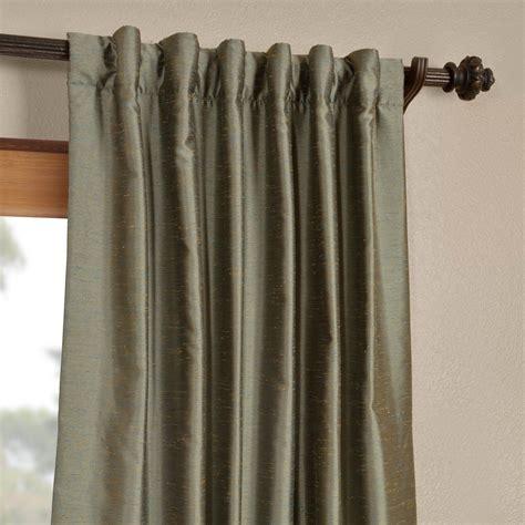blue nile yarn dyed faux dupioni silk curtains drapes