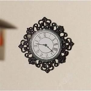 Black, Fancy, Wall, Clock, 3585