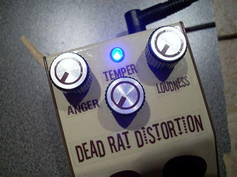 diy rat clone distortion guitar effect pedal  dead