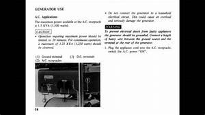 Honda E1500 Generator Owners Manual