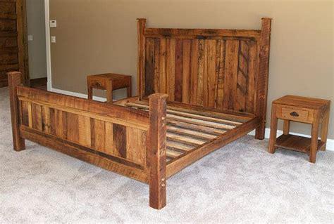 shenandoah sunset bed  rustic wormy chestnut custom bed frame diy bed diy bed frame