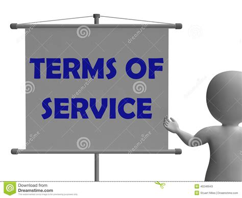 Terms Of Service Sign Shows User And Provider Stock Photo