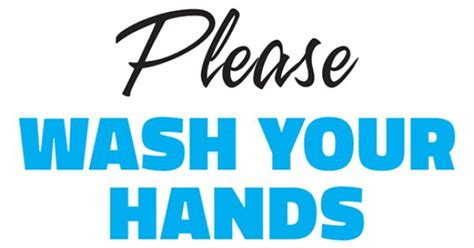 wash  hands printable sign template