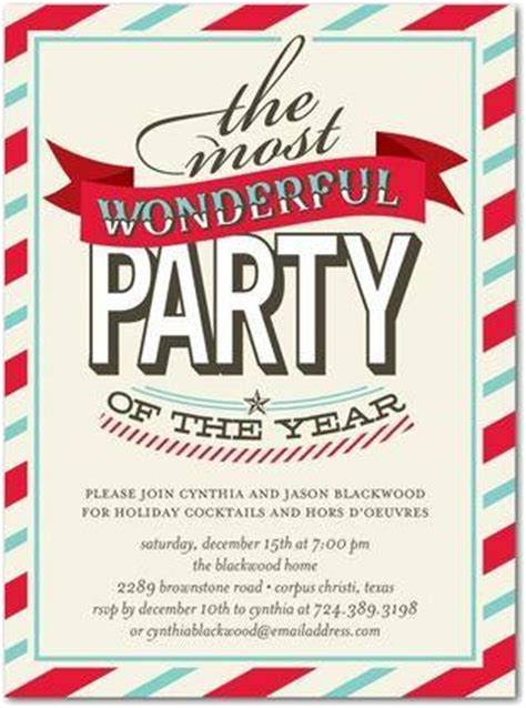 christmas work party invitations a birthday cake