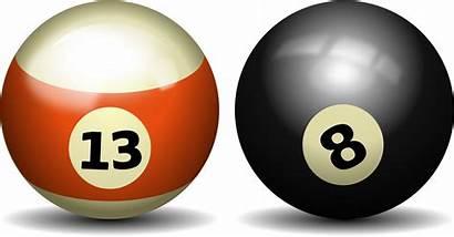 Pool Ball Billiards Clip Clipart Balls Sports