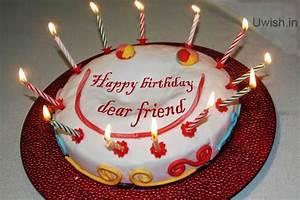 Happy Birthday dear friend with smile on cake | Uwish ...