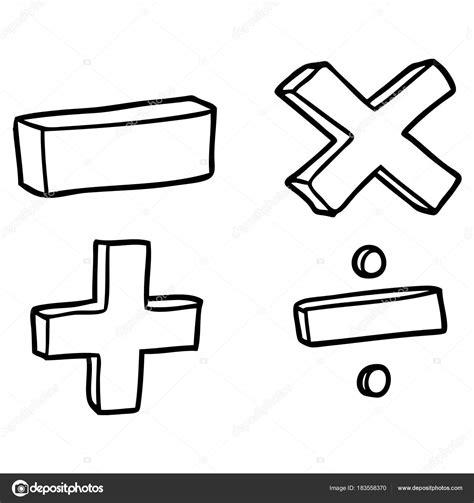 Vector Illustration Cartoon Math Symbols Stock Vector