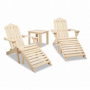 Adirondack Chairs and Side Table 5 Piece Set