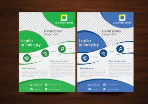 flyer designs blue and green vector brochure flyer design template free vector stock graphics