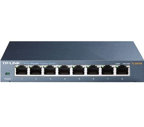 switch gigabit 8 ports tp link tl sg108 8 port ethernet switch deals pc world