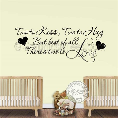 nursery wall sticker for baby boys bedroom wall decor two to wall quote vinyl