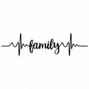 Silhouette Design Store - View Design #150980: family pulse