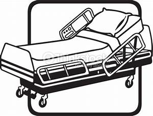 Hospital Bed Grouped Elements Vector Art | Thinkstock