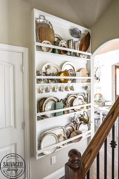 decorate  plate rack built  salvaged living