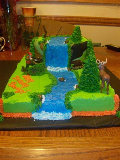 ideas  hunting birthday cakes  pinterest