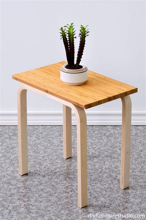 Best Easy Ikea Hack Diy Side Table Made With Frosta Stool