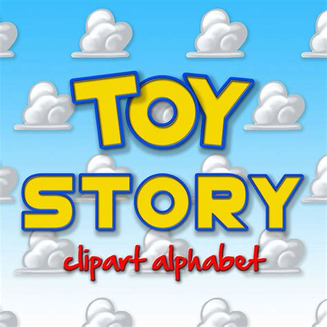 toy story alphabet clipart printable toy story letters