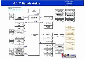 Asus G71v Repair Guide Service Manual Download  Schematics