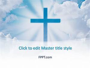 Death By Powerpoint Free Cross Powerpoint Template Free Powerpoint Templates