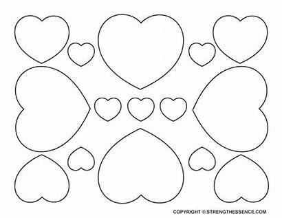 Heart Printable Templates Medium Hearts Template Outline