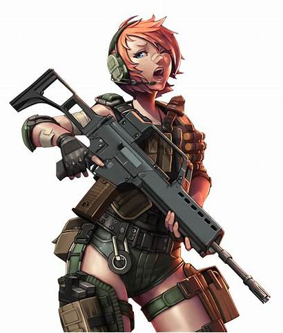 Soldier Anime Military Army Female Woman Animes