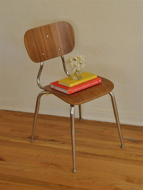 vintage bentwood chrome desk accent chair trevi