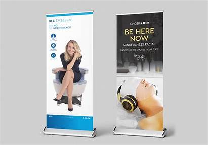 Banner Pull Banners Stands Stand Roll Premium