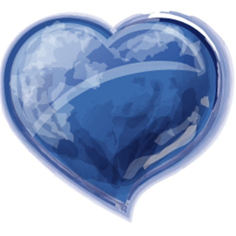 glossy blue heart icon png clipart image iconbugcom