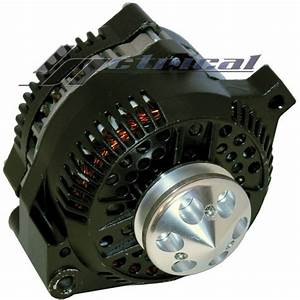 New Alternator Ford Mustang Black W  Billet Pulley 1 One
