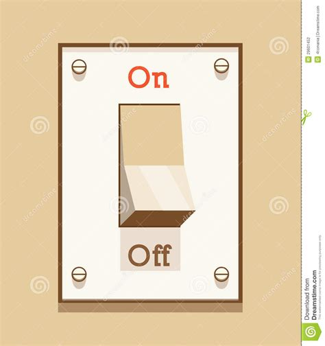 on off light switch on off light switch stock photography image 29601452