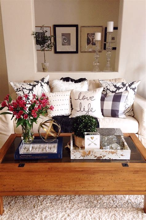 Coffee table is often overlooked when designing but it can create a void. Decorating Your Coffee Table — 2 Ladies & A Chair