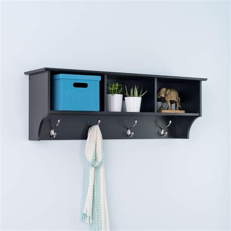 coat rack shelf prepac sonoma black entryway cubbie shelf and coat rack
