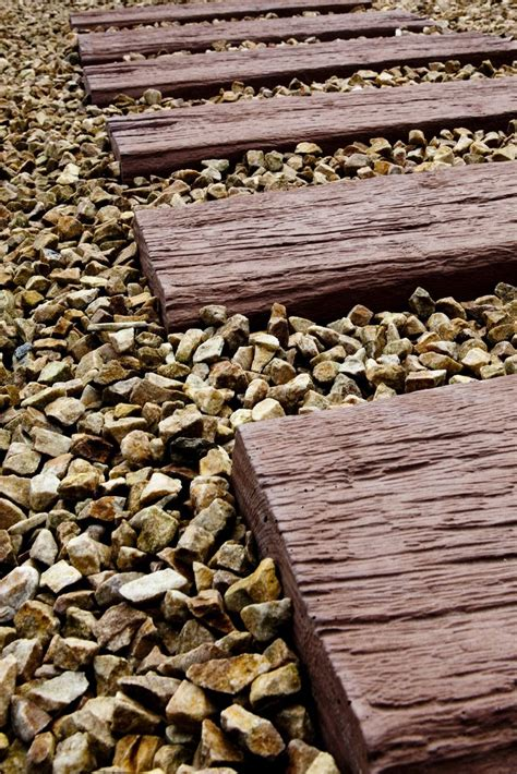 wooden sleeper effect slabs garden decorative pinterest