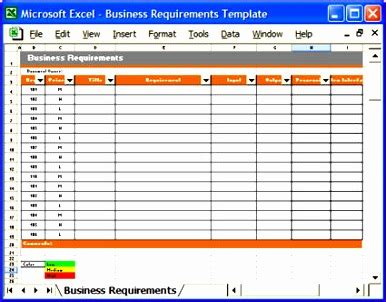 excel requirements template excel templates excel