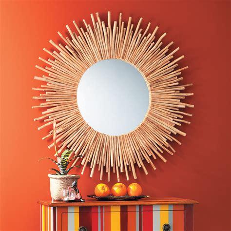 miroir mural chambre miroir rond en bois flotté d 110 cm kampar maisons du monde