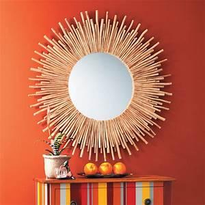 Miroir Bois Flotté : miroir rond en bois flott d 110 cm kampar maisons du monde ~ Teatrodelosmanantiales.com Idées de Décoration