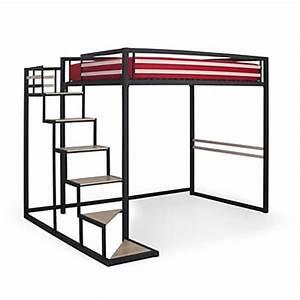 Lit 1 Place Mezzanine : lit mezzanine 2 places id ale dans une chambre ~ Melissatoandfro.com Idées de Décoration