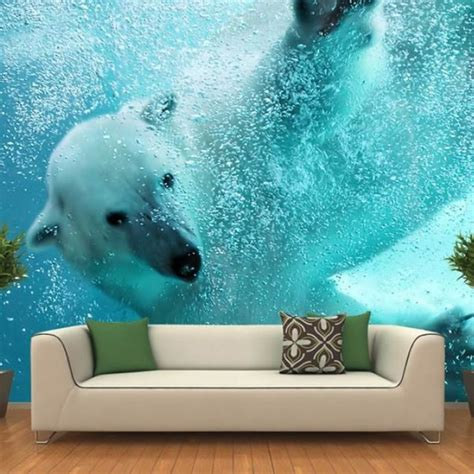 Bear Sofa 8 stunning and cool wall murals that can make your room