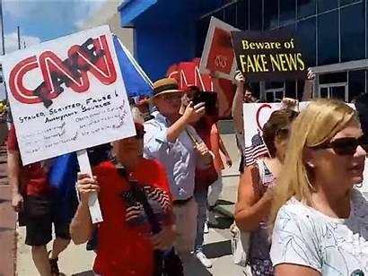 Cnn Fake Protest Headquarters Atlanta Protests Conservative