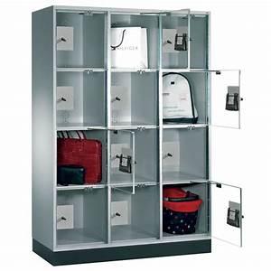 armoire a casiers consigne portes transparentes With porte de garage transparente