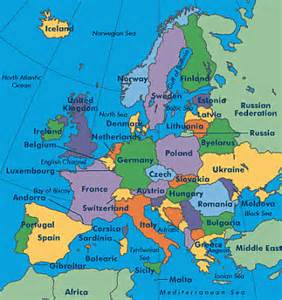 Europe Map Countries and Capitals State