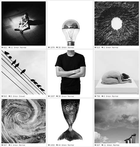 surreal black  white instagram collages ignantcom