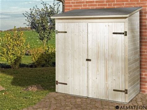 petite armoire de jardin en bois brut 224 toit plat l