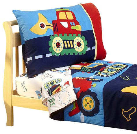 Bulldozer Toddler Bed by Construction Toddler Bedding Set Bulldozer Bed