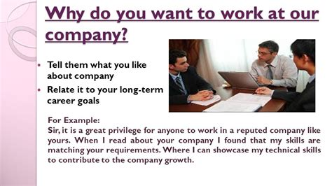 Why You Want Work For This Company by Top 10 Questions Answers Ppt