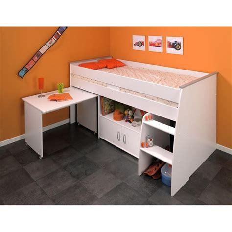 lit avec bureau intégré zola lit enfant combiné 90x200 achat vente lit superpose