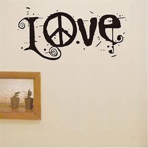 new removable letter word love peace sign vinyl wall With sign with removable letters