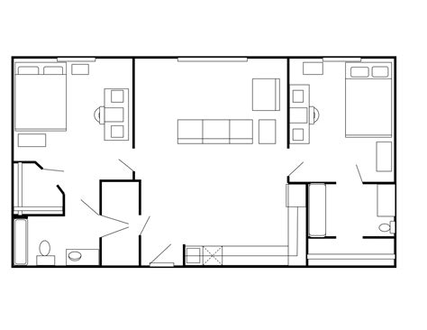 Floor Plans For Small 2 Bedroom Apartments Floor Plans