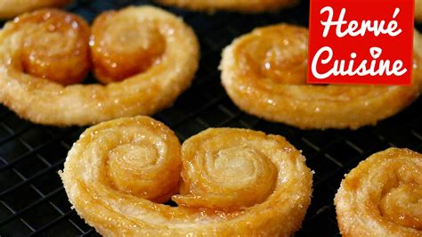 recette herve cuisine recette palmiers sucre et caramel facile et rapide