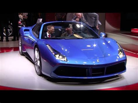 Most of the equipment in the 2019 ferrari 488 gtb, 488 spider and 488 pista is focused on extracting and exploiting the capabilities lying within the engine. Blue Ferrari 488 GTB Spider looking AWESOME! - YouTube
